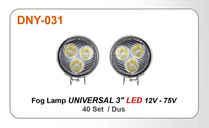 harga Foglamp / lampu tembak 3  bulat led. putih terang. bisa 12v-75w Tokopedia.com