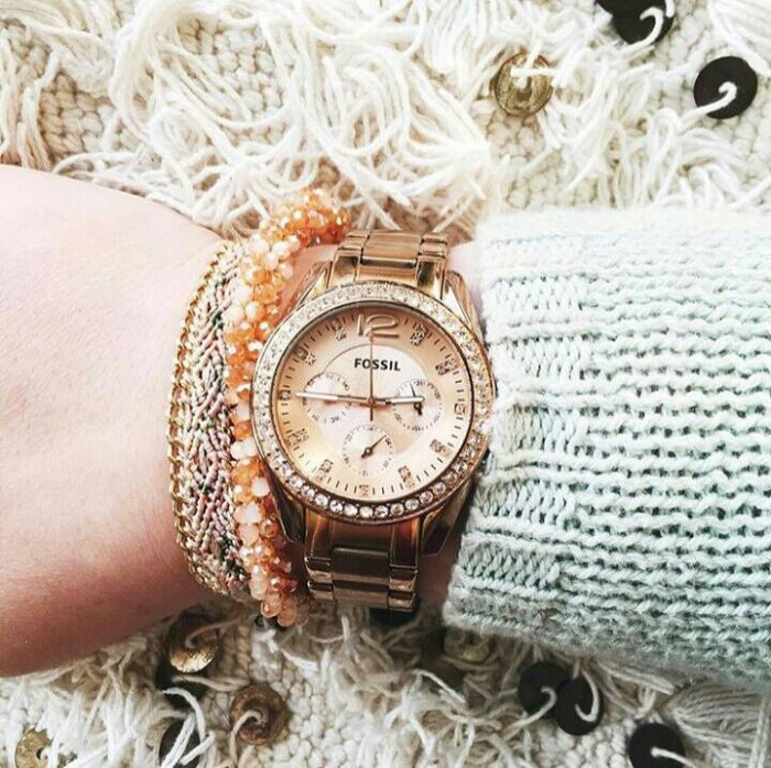harga Fossil es2811 - jam tangan original perempuan / wanita / cewek Tokopedia.com
