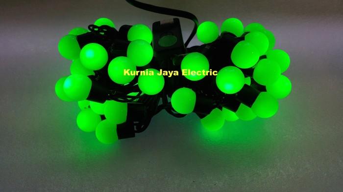 harga Lampu pohon natal led hias bulat bola kelereng hijau 50led Tokopedia.com
