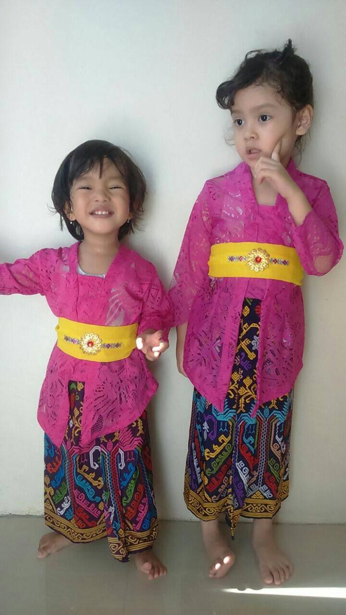 Baju Setelan Kebaya Brokat Anak Usia 4 5 Tahun