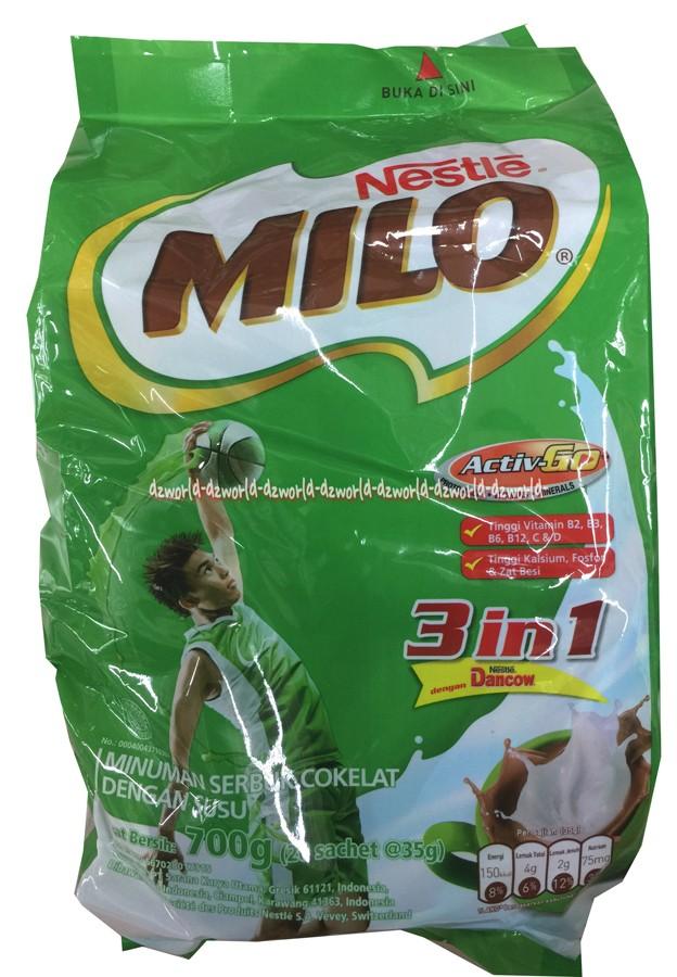 harga Milo Susu 3 In 1 Activ Go Polybag 35g Isi 20 Milo Sachet Milo Saset Tokopedia.com