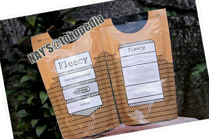 Fleecy coffee face and body scrub[lulur kopi penghilang bekas luka]