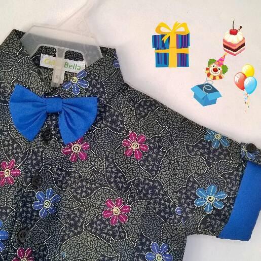 Kemeja Batik Untuk Bayi: Jual Kemeja Batik Bayi Laki-laki Dasi Kupu-kupu