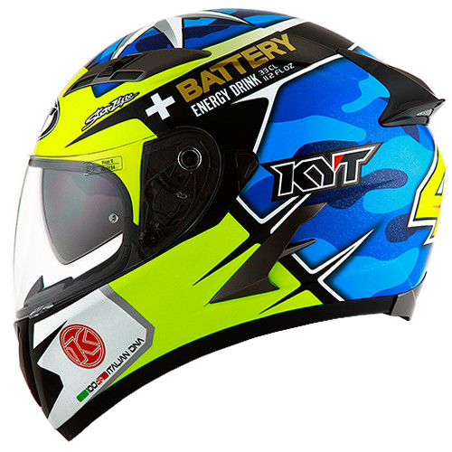 Helm KYT Vendetta 2 Espargaro Vendeta Aleix Full Visor Blue Yellow