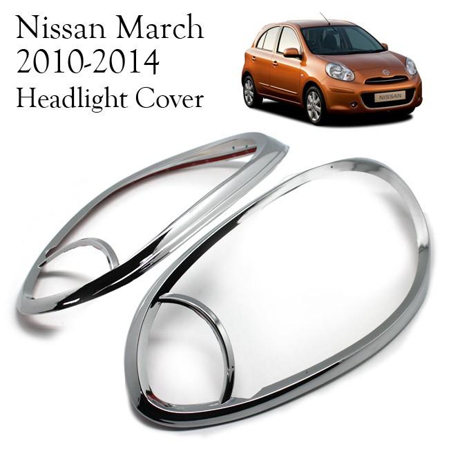 harga Nissan march 2012 - 14 headlight cover garnish krom Tokopedia.com