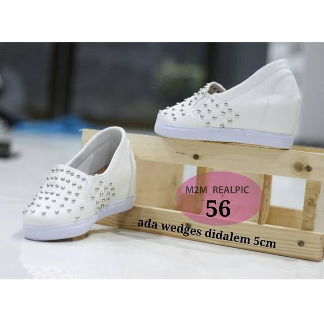 harga Sepatu wanita cewek hidden wedges 5cm studed Tokopedia.com
