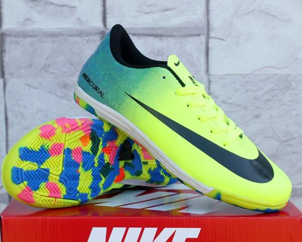 191f3bfa2e2e9 Jual sepatu futsal Nike Mercurial Vapor 9 Hijau Kuning (murah ...
