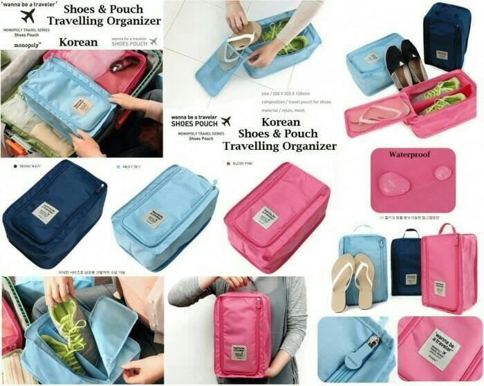 Monopoly Shoes Pouch / Tas Sepatu Besar / Tas Sepatu Olahraga .