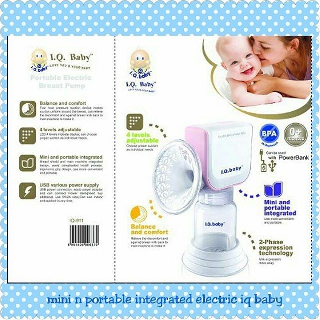 Mini electric iq baby (pompa asi elektrik) (new model) bisa power bank