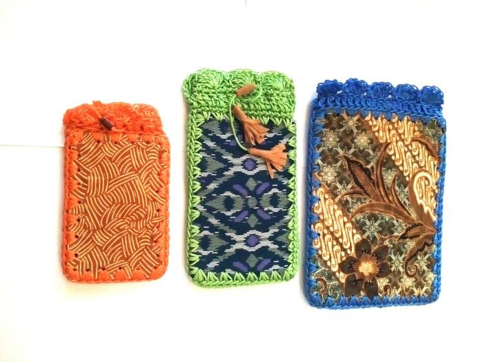 Jual Tas Hp Rajut motif batik - daisukina  4b41bbec7e