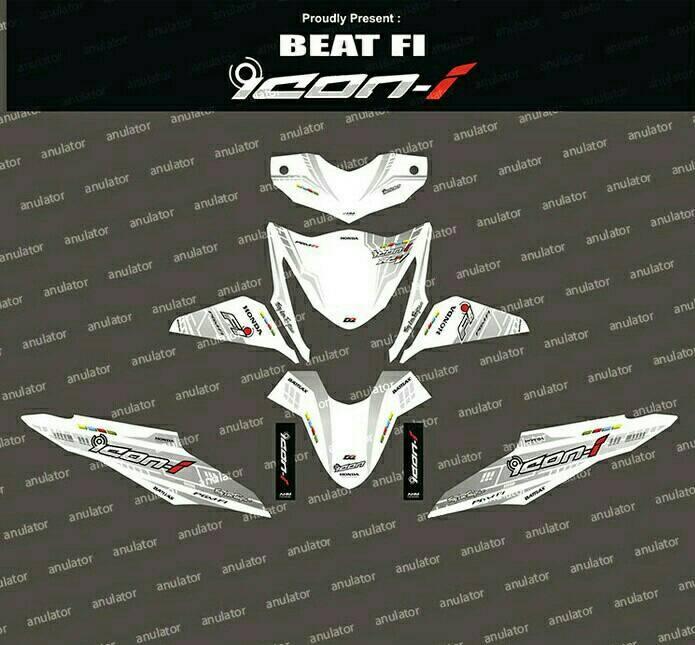 Jual Striping Honda Beat Fi Putih Icon Filink Modifikasi Tokopedia