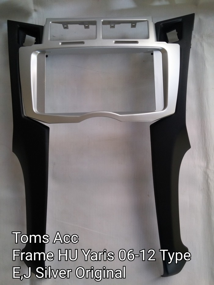harga Panel head unit original toyota yaris 06-12 presisi/frame tape/audio Tokopedia.com