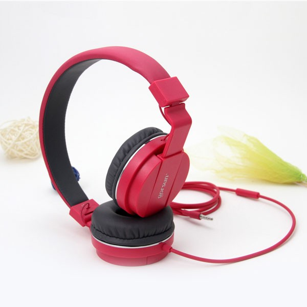 GORSUN GS-779 RED 3.5mm ADJUSTABLE FOLDABLE WIRED STEREO HEADSET