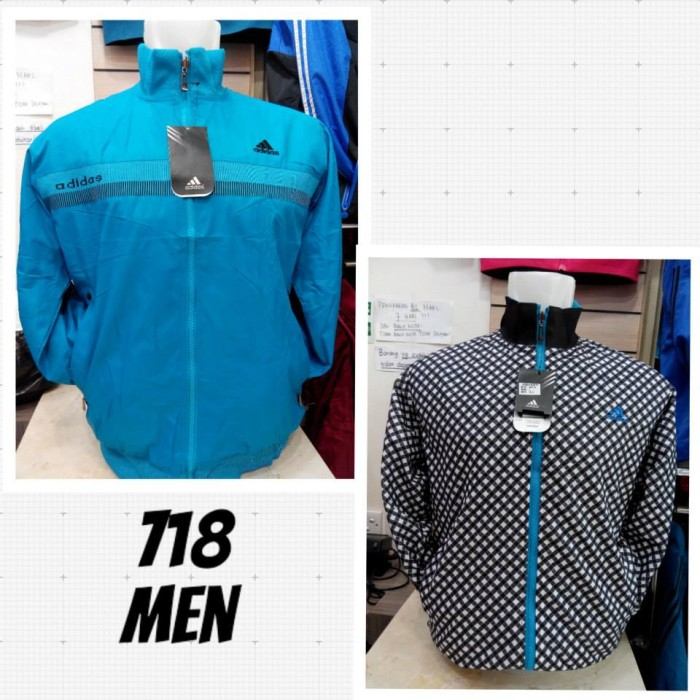 1c0bf0f73a5c Jual Jaket Adidas 718 Men Waterproof Grade Ori (Biru Tosca) - Jersey ...