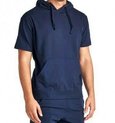 Jaket Hoodie Lengan Pendek Short Sleeve Hoodie Navy