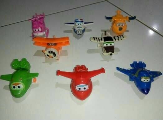harga Mainan anak pajangan miniatur figure super wings Tokopedia.com