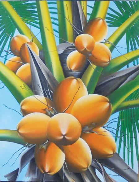 harga Lukisan buah kelapa b-10 Tokopedia.com