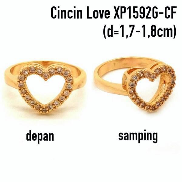harga Xuping yaxiya meili cincin (anting gelang kalung liontin) xp1592g Tokopedia.com