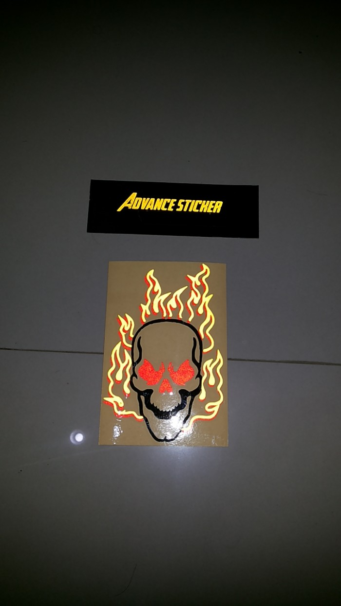 Stiker sticker mobil ghost rider decal full warna
