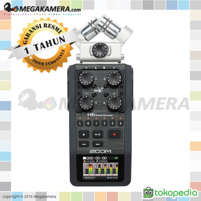 Zoom H6 Handy Recorder Unit Only