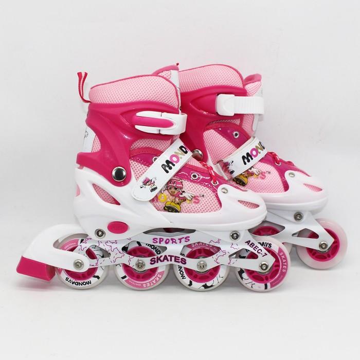 harga Ruibao sepatu roda(8 ban full flash)+deker/pelindung inline skate a11 Tokopedia.com
