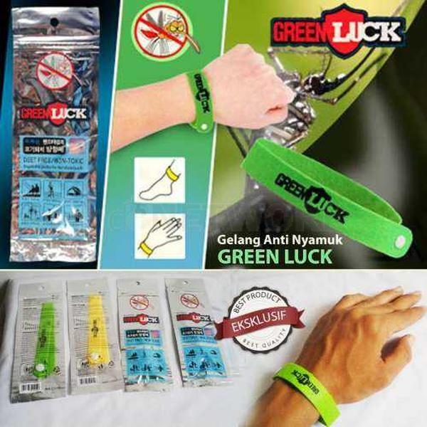 Bugslock Green Luck Gelang Anti Nyamuk Aroma Citronella Warna-warni