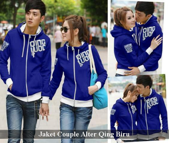 Jaket Couple Terkini | Baju Pasangan Simple | Alter Qing Biru