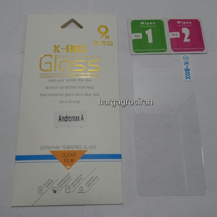Premium Tempered Glass Screen Protector for Andromax EC. Source · Anti gores kaca tempered glass andromax a