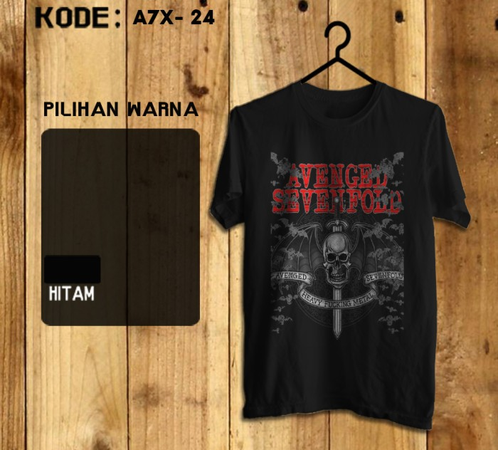 Kaos Gildan Softstyle - Avenged Sevenfold (A7X) Heavy Fucking Metal