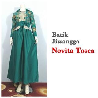 harga (terbaru) baju gamis batik modern wanita novita tosca busui Tokopedia.com