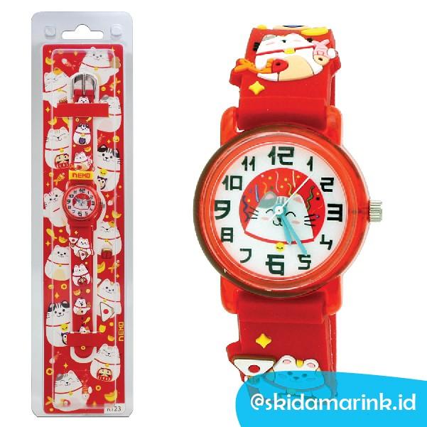 Jual Linkgraphix KT23 Neko Size SS Jam Tangan Anak Unik - RED Kids ... 54235698cc
