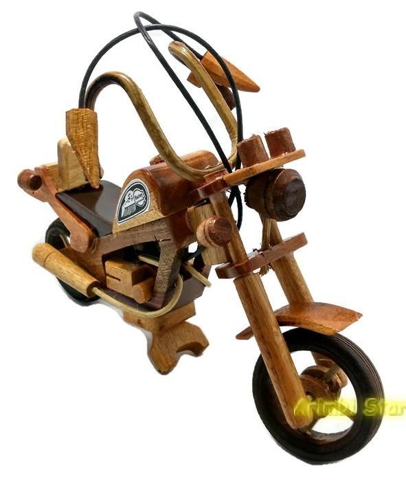 Jual Kerajinan Kayu Miniatur Kayu Motor Hd Mini Kota Tegal