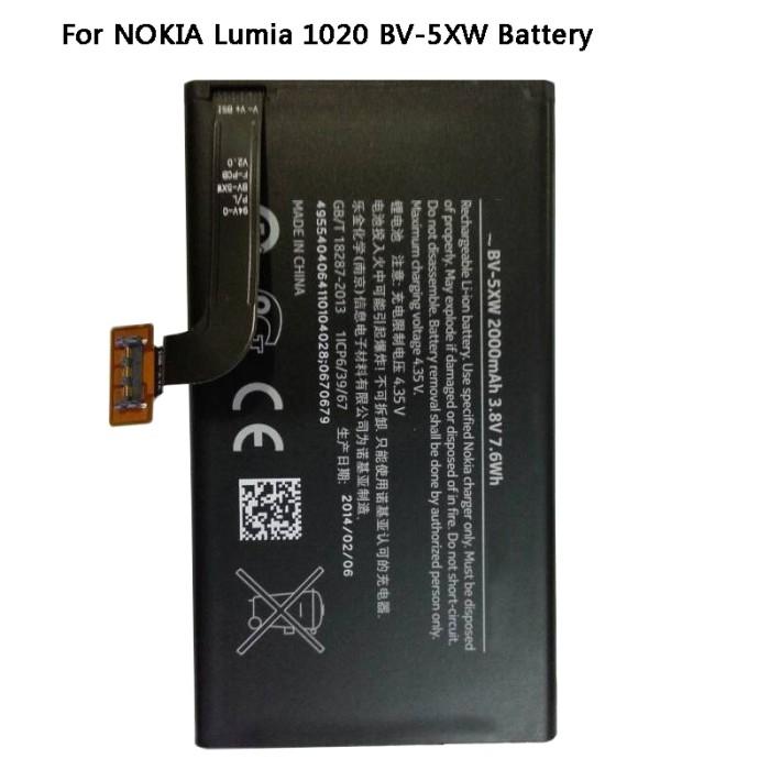 harga Baterry baterai nokia lumia 1020 bp5xw bp-5xw (2000mah) original Tokopedia.com