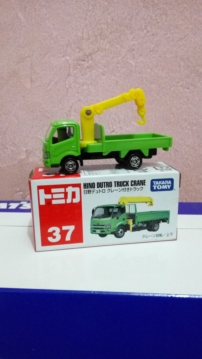 harga Tomica takara tomy no 37 hino dutro truck crane Tokopedia.com
