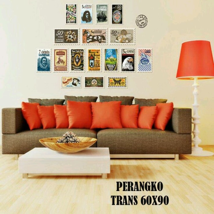 jual [mw wall sticker denpasar] wall sticker perangko - mw wall