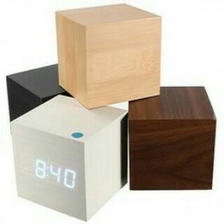harga Led digital wood clock/ jam digital led kayu/ jam meja dinding Tokopedia.com