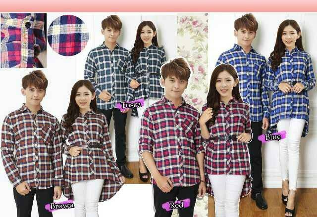 KEMEJA COUPLE | KEMEJA FLANEL | DRESS |FASHION | KOREA