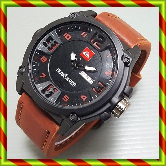 harga Quiksilver kulit tanggal + hari ontario coklat muda | jam tangan ocean Tokopedia.com