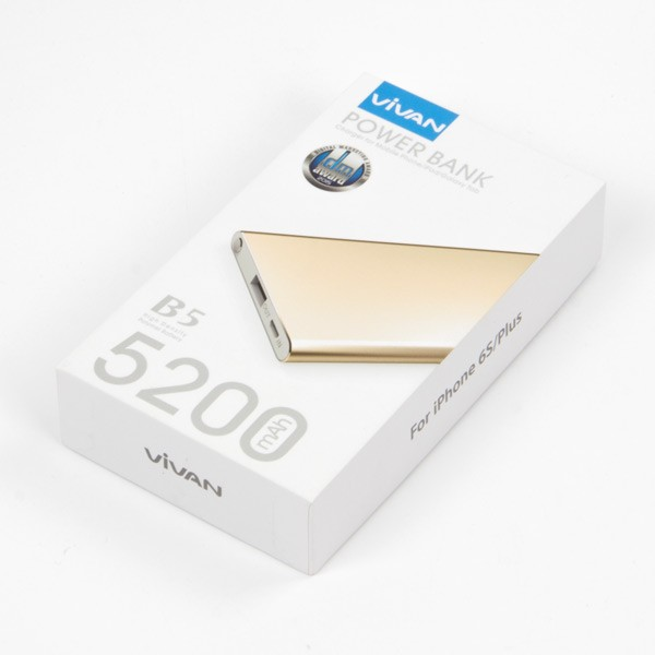 ... Li Ion Polymer 5000 Mah Source · ViVAN Powerbank B5 5000 mah Super Slim Polimer Cell Gold