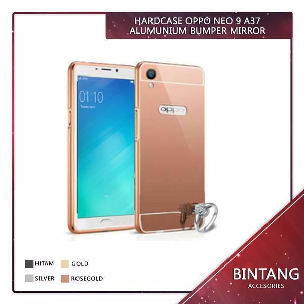 Case Oppo Neo 9 A37 Alumunium Bumper Mirror EDE1