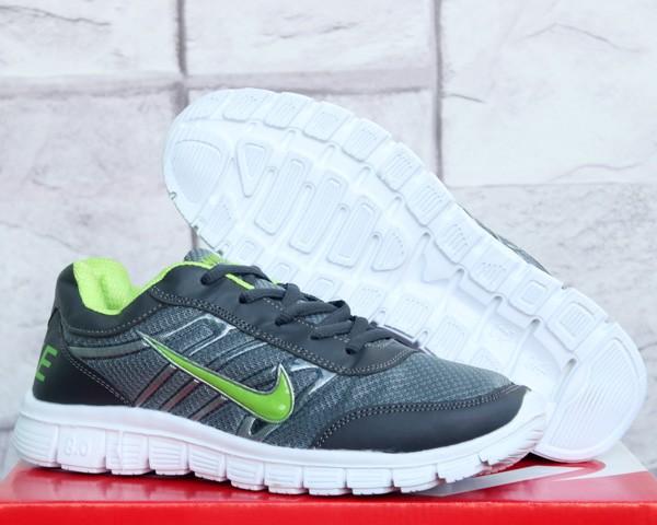 ff4b1008f060 Jual Sepatu Running-Jogging Nike Free Run 8.0 Abu Hijau  40 Sport