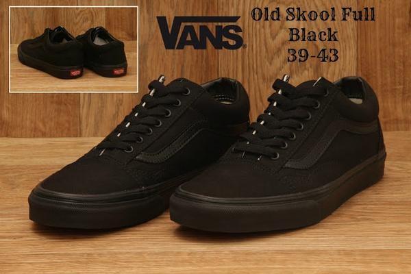 Sepatu Vans Old School Full Black Classic Oldschool Old Skool Hitam