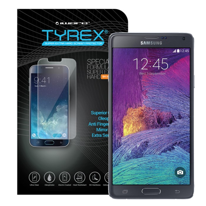 harga Tyrex tempered glass screen protector for samsung galaxy note 4 Tokopedia.com