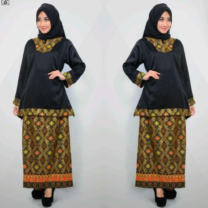 Jual Baju Kebaya Muslim Hitam Belle Butik Tokopedia