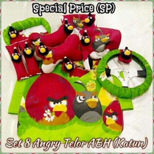 harga Set Car/sarung Jok/bantal Mobil Boneka Angry Bird/merah/hijau 8 In 1 Tokopedia.com