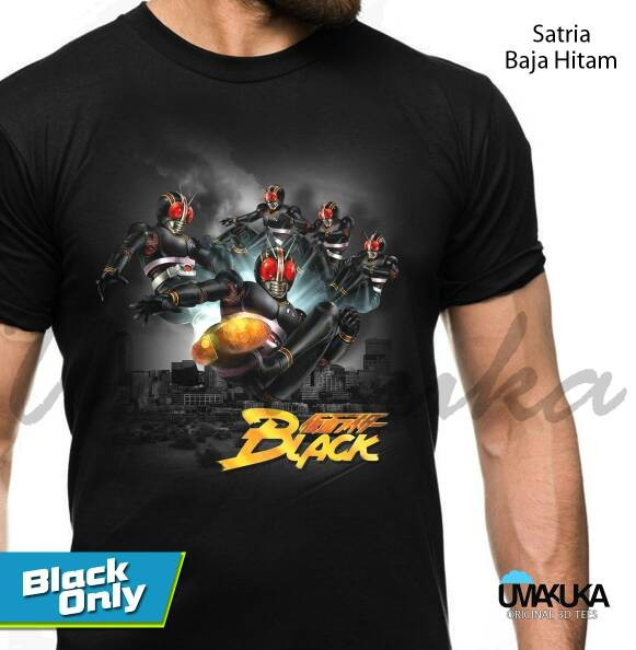 harga Satria baja hitam - kaos 3d umakuka kaos distro bandung Tokopedia.com