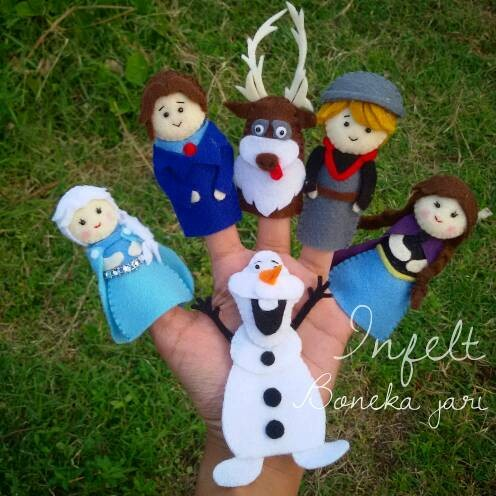 Jual boneka jari frozen - Infelt  fbc3f3c394
