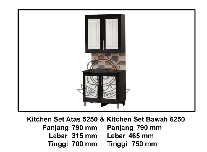 Jual Kitchen Set Ksa 5250 Ksb 6250 Bahagia Furniture Tokopedia