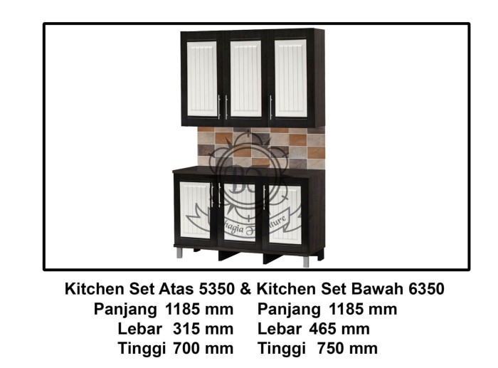 Jual Kitchen Set Ksa 5350 Ksb 6350 Bahagia Furniture Tokopedia