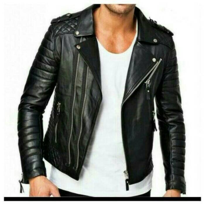 Jual jaket ramones baru jaket kulit anak band jaket kulit semi ... bee6193a48